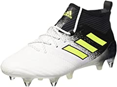 Take your touch to the next level with the adidas ACE 17.1 SG football boots. Engineered with Primeknit, the boots feature a new zoned forefoot to ensure a snug fit around the toe box, while the Purecut Control sock offers sleek compression f...