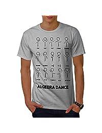 Wellcoda Algebra Math Dance Mens T-Shirt, Nerds Detailed Design Print Tee