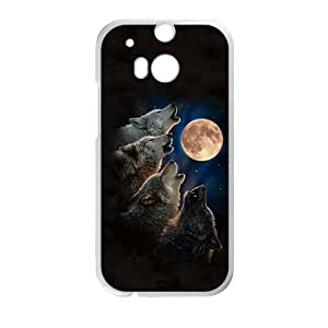 Wolf Group Moon Roaring White htc m8 case