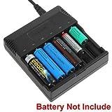 FidgetFidget Battery Chargers Smart Charger for AA AAA 18650 18500 18350 17670 16340 14650 Li-ion Battery