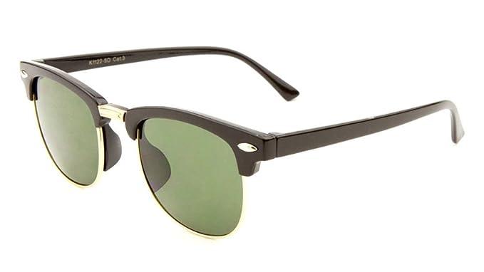 b3622e048c Amazon.com  Kids Retro Square Half Rim Sunglasses … (Black   Gold ...
