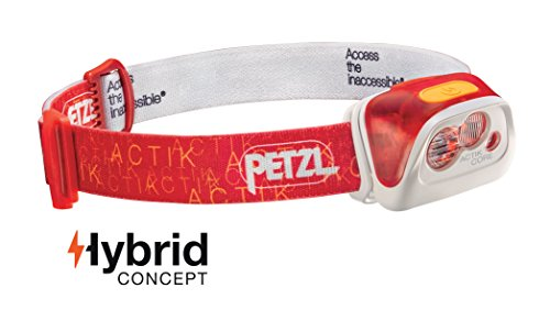 Petzl - ACTIK CORE Headlamp, 350 Lumens, Rechargeable, with ACCU CORE Battery, Red