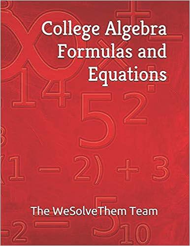 Amazon com: College Algebra Formulas and Equations (College
