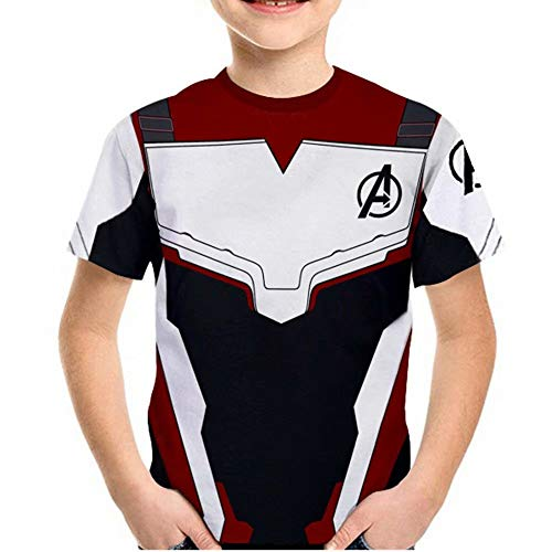Tsyllyp Boys Girls Superhero T-Shirts Halloween Endgame Quantum Realm Costume -