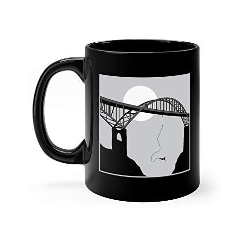 Bungee Jumping Playing Bridge Water Mug Ceramic 11 Oz Cups