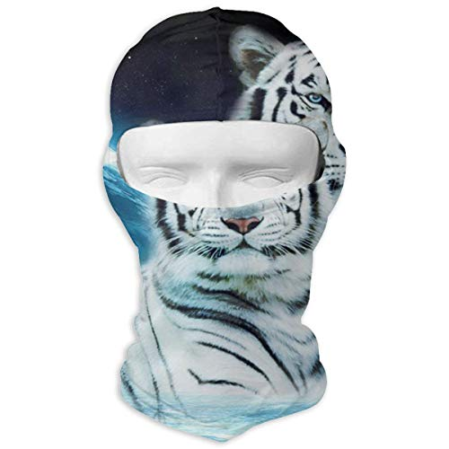 MASDUIH Neck Scarf Sunscreen Hats Ski Mask Majestic White Tiger Sun UV Protection Dust Protection Wind-Resistant Face Mask for Running Cycling Fishing