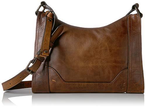 FRYE Melissa Saddle Crossbody Bag Dark Brown New