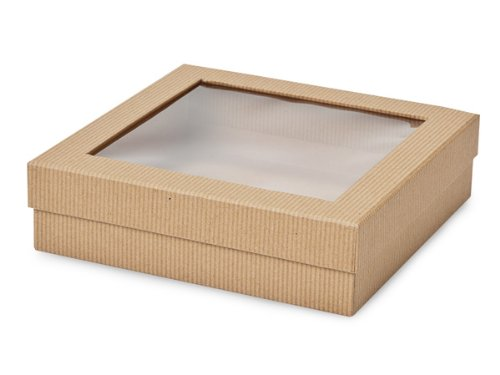 Gourmet Rigid Window Box 18 Count - Large - Kraft Pinstripe by Nashville Wraps