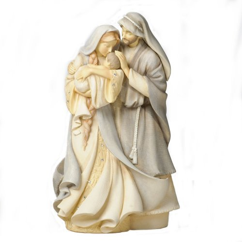 Foundations Holy Family Stone Resin Figurine, 9