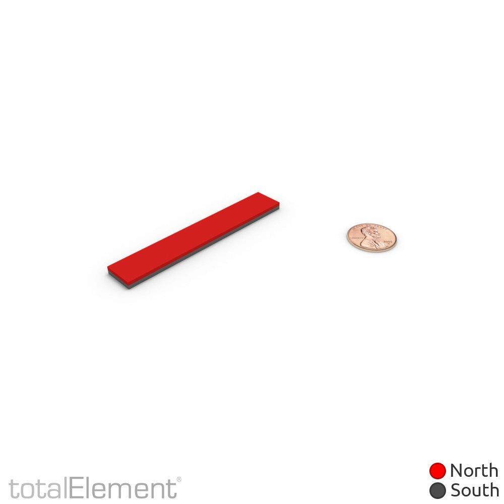 totalElement Super Strong Industrial Grade 3 x 1/2 x 1/8 Inch Neodymium N48 Bar Magnet (2 Pack)