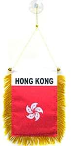 Hong Kong bandera coche ventana para colgar banderín