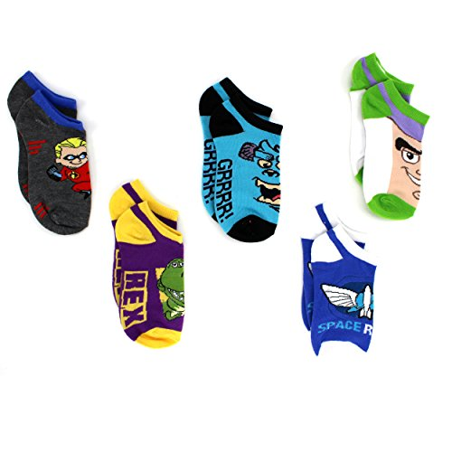 Toy Story Incredibles Monsters Inc Boys 5 Pack Ankle Socks size 6-8 shoe size 10.5-4 (Baby Jack Jack From The Incredibles)
