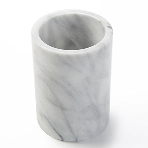 American Metalcraft MWC57 Tabletop Marble Wine Cooler, White, 5-Inch Diameter