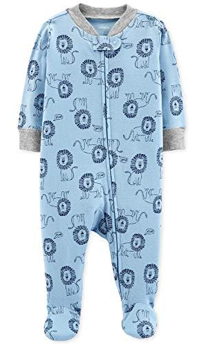 Carter's Baby Boys' Cotton Zip-Up Sleep N Play (3 Months, Lion Roar -