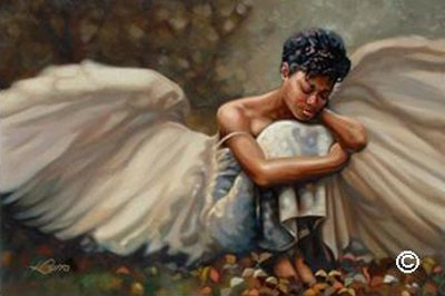 This Too Shall Pass - Poster by Henry Lee Battle African American Angel, Overall Size: 36x24, Image Size: 34x22 (Wall Artists Painting)