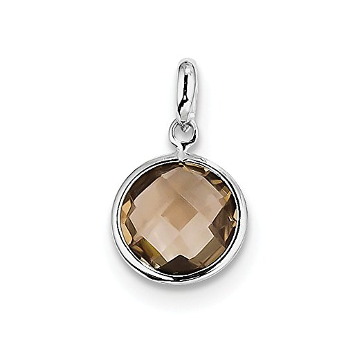 925 Sterling Silver Smoky Quartz Pendant Charm Necklace Gemstone Fine Jewelry Gifts For Women For Her