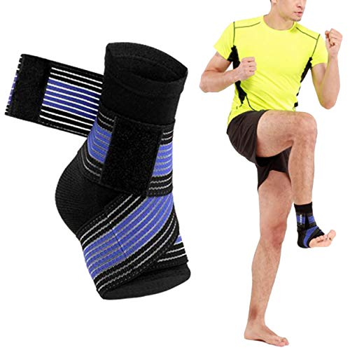 AOUKESPORTS Ankle Brace Ankle Support Ankle Wrap for Running, Arthritis, Pain Relief, Sprains, Sports Injuries and Recovery, Ultra-Thin Breathable Neoprene Ankle Compression Brace (Black)