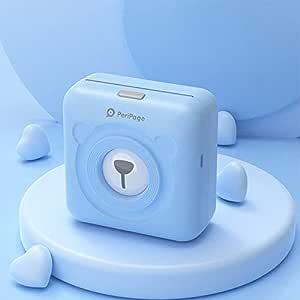 DZSF Impresora térmica Bluetooth Mini Pocket Photo Impresora de Notas móvil Protable Impresora de Fotos 58Mm 2Inch A6 para teléfono Android iOS,Azul: Amazon.es: Deportes y aire libre