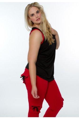 Lino Fitness Plus Size Women Sports Wear Cargo Legging XL red