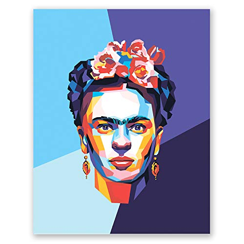 (Frida Kahlo Poster - Inspirational Pop Art Portrait - Feminist Mexican Wall Home Decor - Iconic Artist (11x14))
