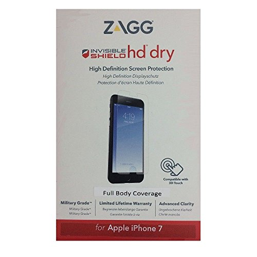 (ZAGG IP7HDF-F00 InvisibleShield HD Dry Screen Protector Full Body for Apple iPhone 7)