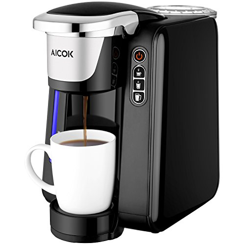 Coffee Maker Cup Size : Single Serve Coffee Maker, Aicok K-Cup Pods Coffee Maker, Coffee Machine with Five Brew Sizes ...