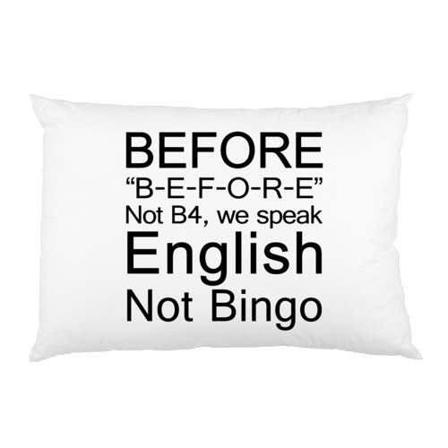 FavorPlus Pillowcase English Grammar Teacher Before, Not Bingo Decor Regular Pillow Cases Cover Design Bedroom Sofa Pillow Sham 16X24 Inches by FavorPlus Pillowcase