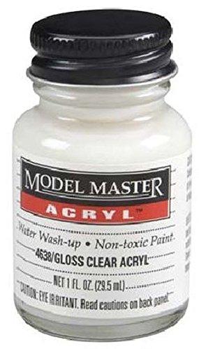 Gloss Clear Testors Acrylic Plastic Model Paint