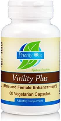 Priority One Vitamins Virility Plus 90 Vegetarian Capsules - Designed to Promote Pleasure Enhancement.*