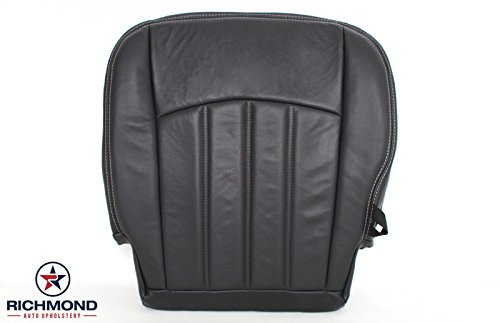 Richmond Auto Upholstery 2012 Dodge Ram 3500 Laramie Mega-Cab - Driver Bottom Replacement Leather Seat Cover: Dark Gray