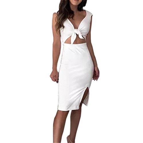 HODOD Sexy Women' Bodycon Off Shoulder Crew Neck Party Evening Black Mini Short Dress (C-White, S) by HODOD