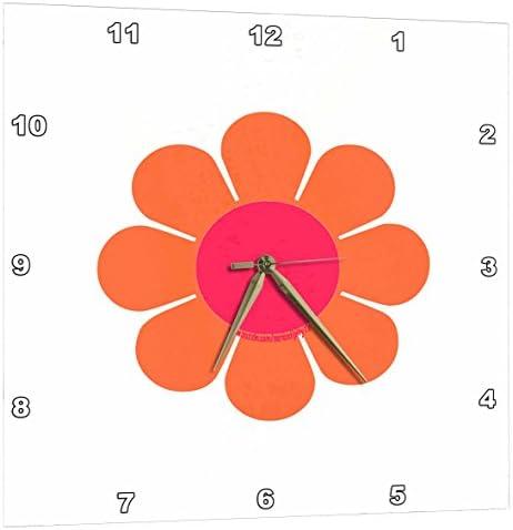 3dRose Retro 70S Flower – Wall Clock, 13 by 13-Inch DPP_12484_2