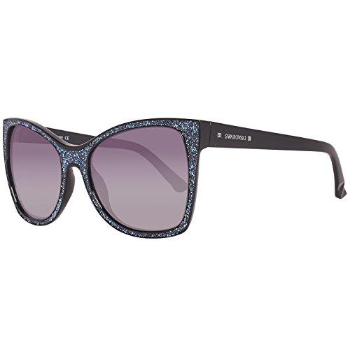 Swarovski SK0109 Farrel Sunglasses 56 01B Shiny Black Gradient Smoke (Daniel Swarovski)