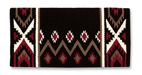 Mayatex New Phoenix Saddle Blanket, Coffee/Umber/Red Earth/Cream, 38 x 34-Inch