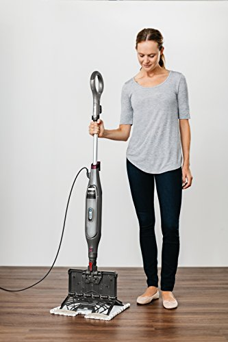 Shark Genius steam mop removing the Dirt Grip pad