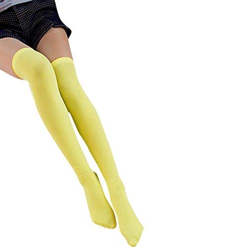 Chaussettes Longues Pour Femmes, Egmy Chaussettes Hautes En Nylon Stretch Temptation