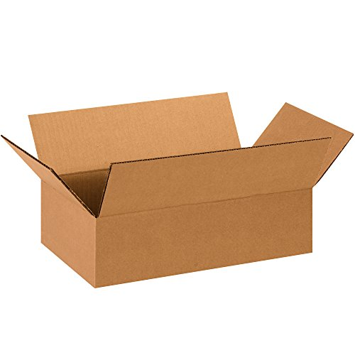 """Partners Brand P1484100PK Flat Corrugated Boxes, 14"""" L x 8"""" W x 4"""" H, Kraft (Pack of 100) from Partners Brand"""