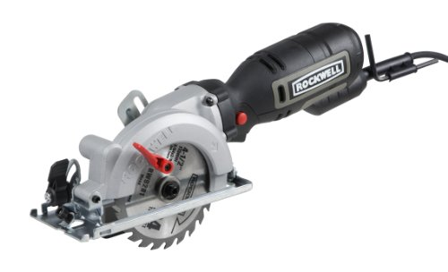 Rockwell 4-1/2' Compact Circular Saw, 5 amps, 3500 rpm, with Dust Port and Starter Kit- RK3441K