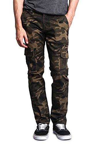 Victorious G-Style USA Men's Camo Skinny Pants DL1029 - Cargo Camo - 34/30