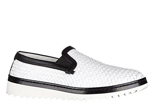 Dolce&Gabbana Herren Leder Slip On Slipper Sneakers Weiß