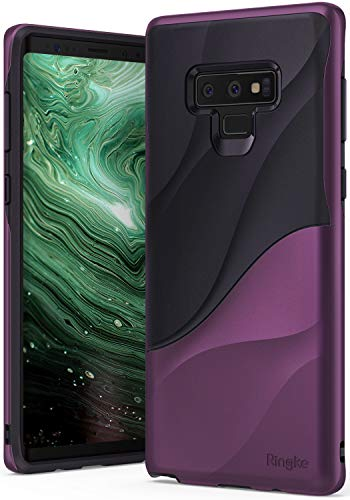 Slimline Panel Flat (Ringke Wave Case for Galaxy Note 9 with Dual Layer Heavy Duty 3D Textured Shock Absorbent PC TPU Full Body Drop Resistant Protection Modern Design Cover for Note9 - Metallic Purple)