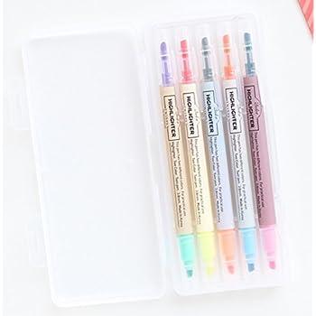 Amazon Com Livework 10 Colors Twin Pen Set Dual Colors
