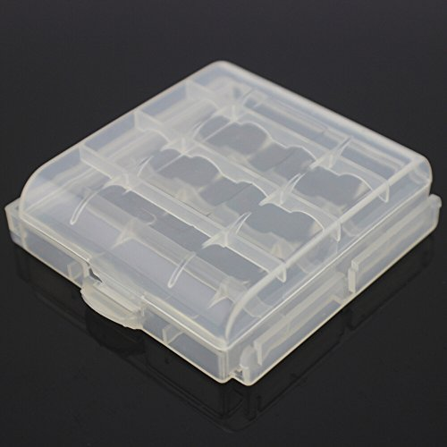 SODIAL(R) Pack of 4 PCS AA / AAA Battery Storage Hard Case Box-Clear by SODIAL(R) (Image #2)