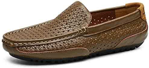 28ab3901896e87 Allaoh loafers for men Mens Driving Shoes 2019 Genuine Leather Loafers Shoes  for Men Handmade Soft
