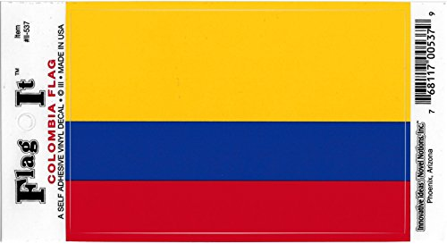 Colombia Flag Car Decal Sticker [3.5x5