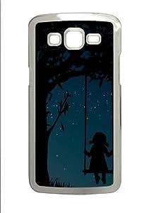 Midnight Dreamer17 Polycarbonate Hard Case Cover for Samsung Grand 2/7106 Transparent