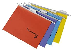 Rexel Multifile Plus - Carpeta colgante (15 mm, A4, 20 unidades), varios colores