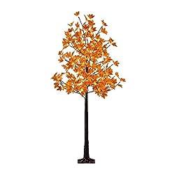 LIGHTSHARE Lighted Maple Tree Fall Deco