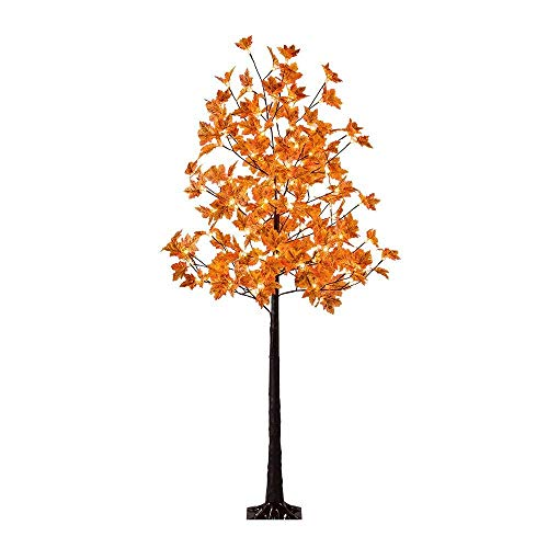 Lightshare LED Lighted Maple Tree - Dotted with 120 Warm White LED Lights, 5.5 ft, Yellow -