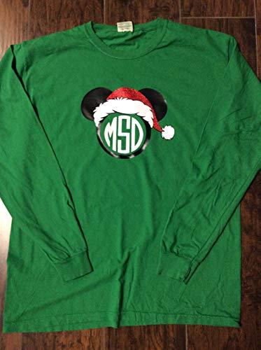Handmade Christmas Disney Shirt personalized Disney Minnie Mouse]()